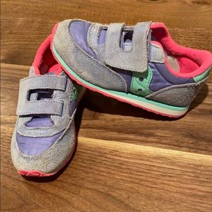 Toddler girls saucony Jazz Velcro sneakers